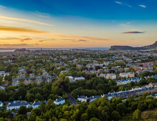 Edinburgh Castle and Arthurs Seat