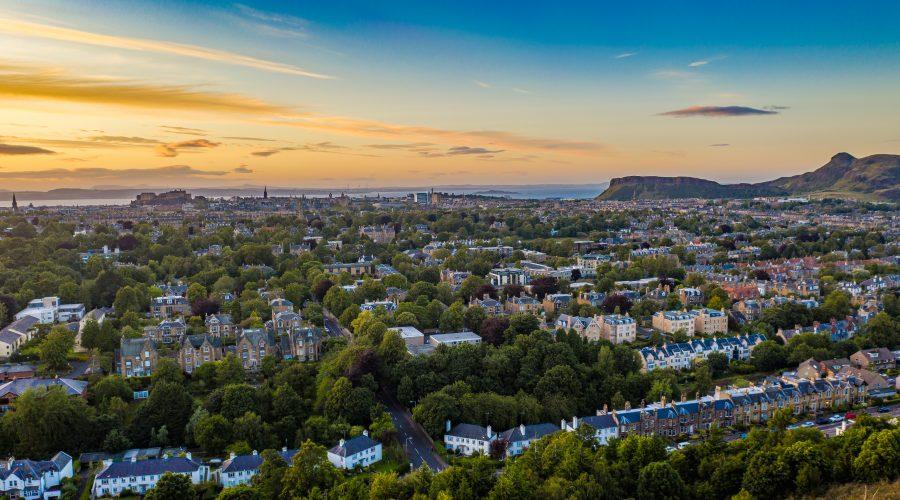 Edinburgh Castle and Arthurs Seat