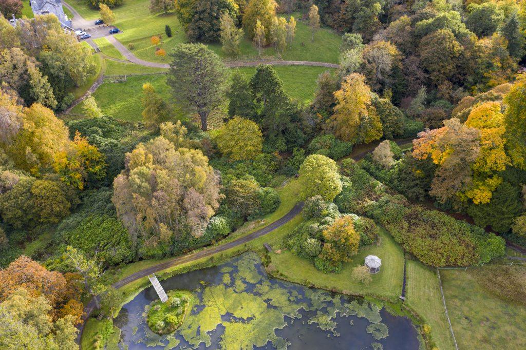 Glencouse house pond - Autumnal view