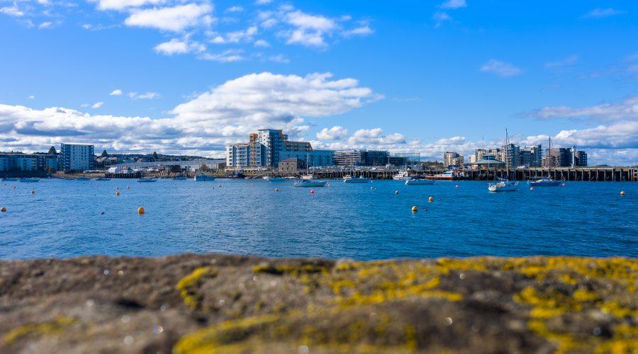 Granton harbour - Breakwater view