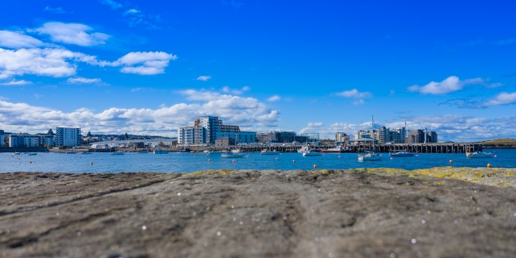 Granton harbour - view from on the breakwater